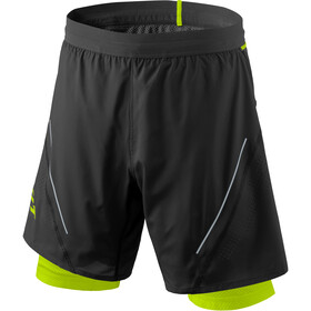 Dynafit Alpine Pro 2en1 Shorts Hombre, black out/yellow